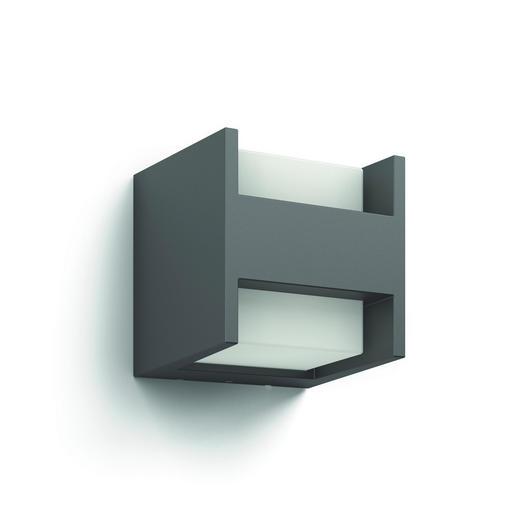 MYGARDEN LED-AUßENWANDLEUCHTE Anthrazit - Anthrazit, Design, Metall (12,99/12,99/12,7cm) - Philips