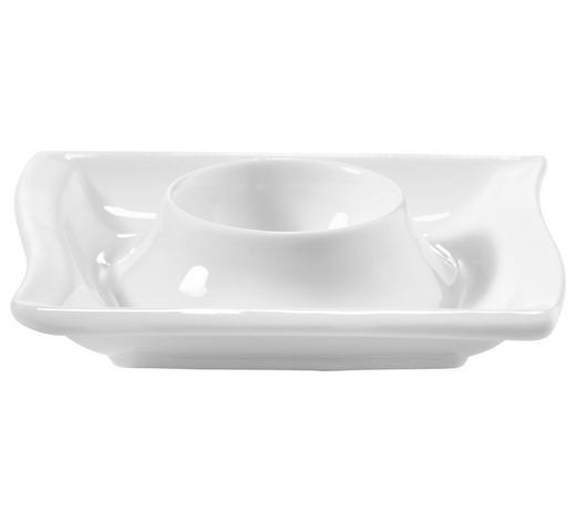 KALÍŠEK NA VEJCE - bílá, Basics, keramika (10/10/2,3cm) - Novel