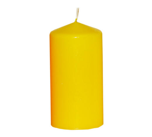 STUMPENKERZE 7,7/15 cm - Gelb, Basics (7,7/15cm) - Steinhart
