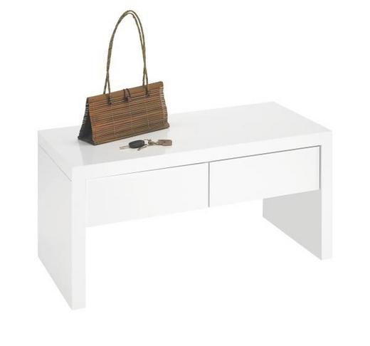 GARDEROBENBANK - Weiß, Design, Holzwerkstoff (90/45/42cm) - Carryhome