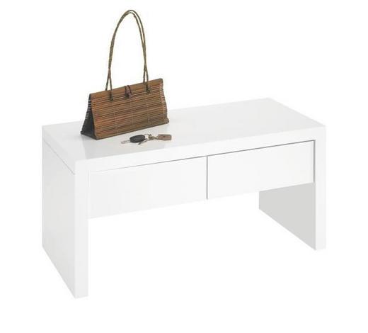 ŠATNÍ LAVICE, bílá,  - bílá, Design, kompozitní dřevo (90/45/42cm) - Carryhome