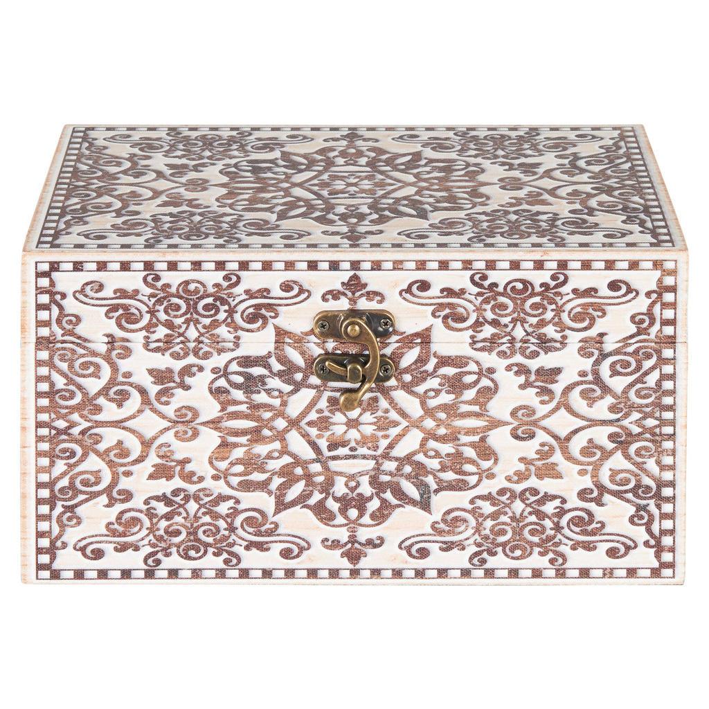 Image of Ambia Home Dekobox 24/14/12 cm , Fyd21-064A , Multicolor , Textil, Holzwerkstoff , 14x12 cm , bedruckt,Leinwand, Vliesstoff,Nachbildung , Deckel, Deckel aufklappbar, handgemacht , 003469001601