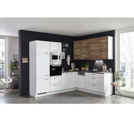 ROHOVÁ KUCHYŇ - šedá/bílá, Design, kompozitní dřevo (265/210cm) - Celina