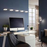 VISEČA LED SVETILKA REAL - aluminij/krom, Design, kovina/umetna masa (90,5/8/150cm) - Novel
