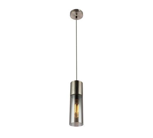 HÄNGELEUCHTE - Nickelfarben, MODERN, Glas/Metall (10,5/152,5cm)