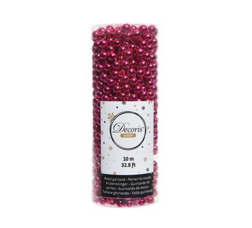 Perlenkette  Pink   - Pink, Basics, Kunststoff (1000cm) - X-Mas