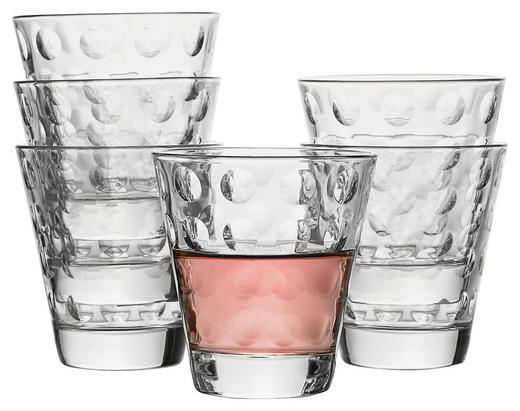 GLÄSERSET 6-teilig - Klar, Trend, Glas (26/9,5/17,3cm) - Leonardo