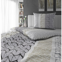 BETTWÄSCHE 140/200 cm - Weiß/Grau, Design, Textil (140/200cm) - NOVEL