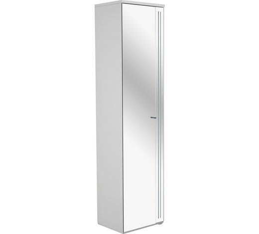 HOCHSCHRANK 40/161,9/30 cm  - Chromfarben/Weiß, Design, Glas/Holzwerkstoff (40/161,9/30cm)