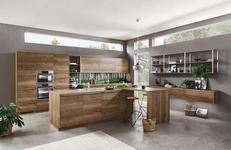 Einbauküche Singapur individuell planbar - MODERN, Holzwerkstoff - Vertico