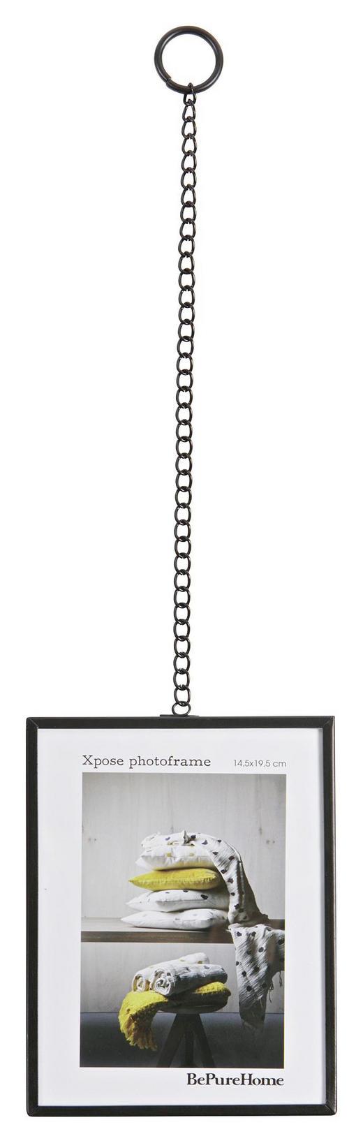 BILDERRAHMEN  Schwarz - Schwarz, Design, Glas/Metall (15/20/1cm) - Carryhome