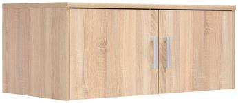 AUFSATZSCHRANK - Silberfarben/Sonoma Eiche, KONVENTIONELL, Holzwerkstoff/Metall (106/43/54cm) - Xora