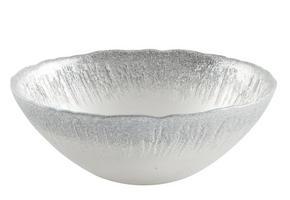 SKÅL - vit/silver, Trend, glas (16,5/5,5cm) - Ambia Home