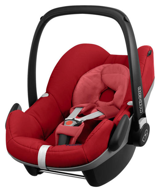 BABYSCHALE PEBBLE Pebble - Rot/Schwarz, KONVENTIONELL, Kunststoff/Textil (44/57/69cm) - Maxi-Cosi