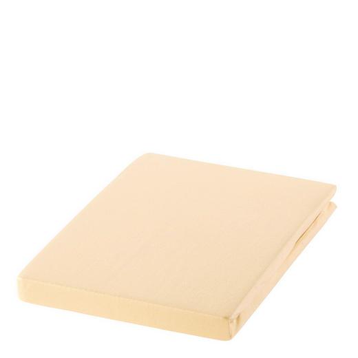 SPANNBETTTUCH Zwirn-Jersey Beige bügelfrei, für Wasserbetten geeignet - Beige, Basics, Textil (100/200cm) - ESTELLA