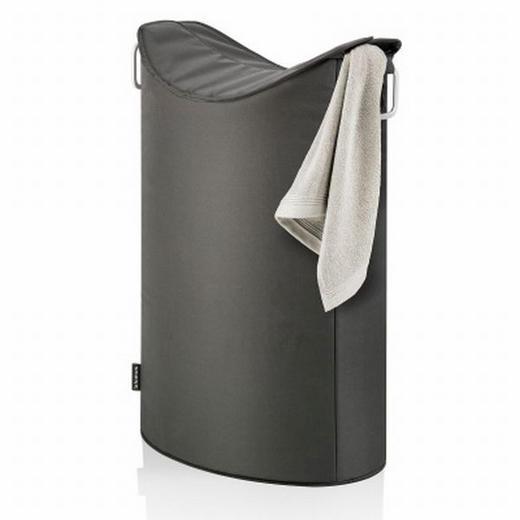 WÄSCHETONNE - Anthrazit, Basics, Textil/Metall (45/70/28cm) - Blomus