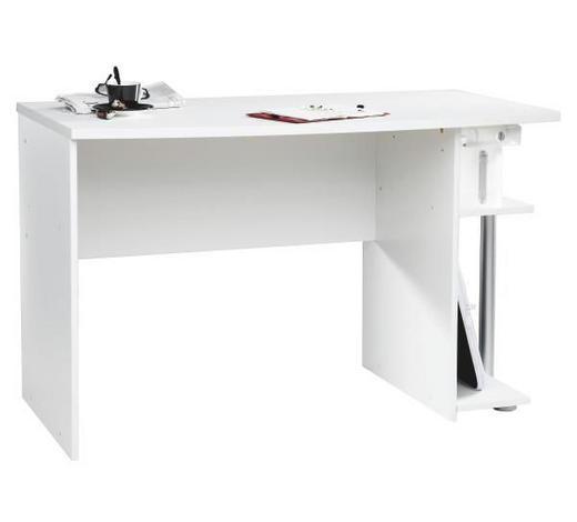 SCHREIBTISCH Weiß  - Weiß, Design, Holzwerkstoff (120/75/64cm) - Carryhome