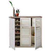 BOTNÍK - šedá/bílá, Lifestyle, kompozitní dřevo/umělá hmota (133,4/123,2/42,5cm) - Hom`in
