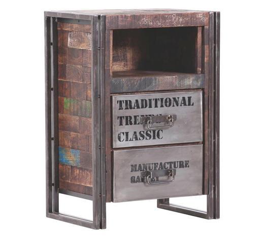 KOMODA - hnědá, Design, kov/dřevo (55/80/40cm)