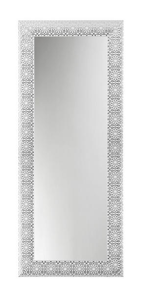 VÄGGSPEGEL - vit/silver, Design, glas/trä (78/188/2.5cm)
