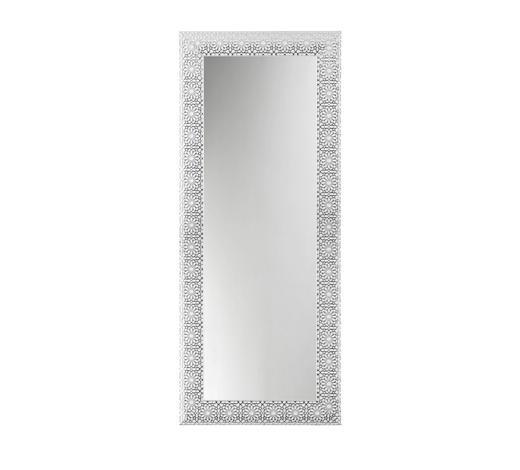 WANDSPIEGEL 78/188/2.5 cm - Silberfarben/Weiß, Design, Glas/Holz (78/188/2.5cm)