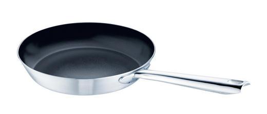 BRATPFANNE 24 cm PTFE-Antihaftbeschichtung - Edelstahlfarben, Basics, Metall (24cm) - SCHULTE UFER