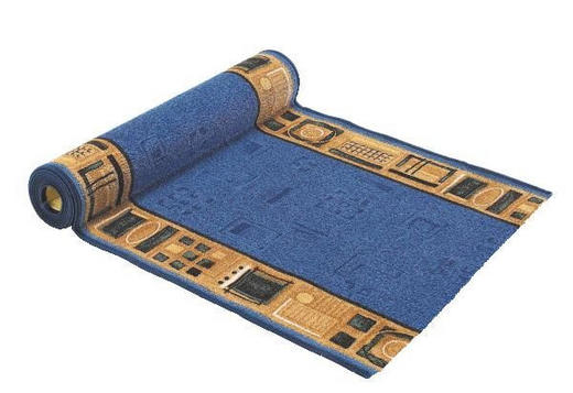 LÄUFER per  Lfm - Blau, KONVENTIONELL, Kunststoff/Textil (80cm) - ESPOSA