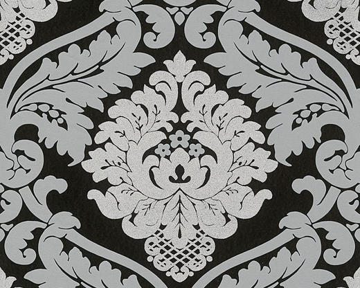VLIESTAPETE 10,05 m - Schwarz/Weiß, Design, Textil (53/1005cm)