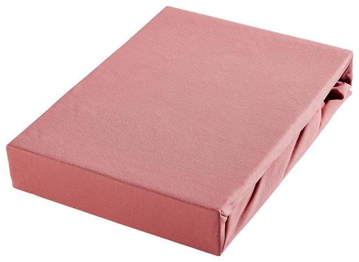 SPANNBETTTUCH Jersey Rosa - Rosa, Basics, Textil (200/200cm) - Bio:Vio