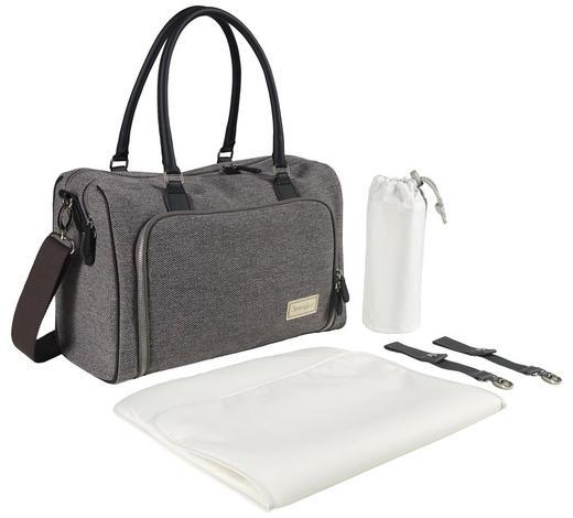 WICKELTASCHE - Weiß/Grau, Design, Textil (40/30/35cm) - Jimmylee