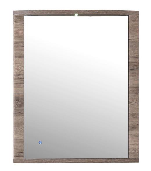 SPIEGEL Eichefarben - Eichefarben, KONVENTIONELL, Glas/Holzwerkstoff (75/90/11cm)