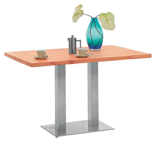 ESSTISCH in Holzwerkstoff, Metall - Edelstahlfarben/Buchefarben, KONVENTIONELL, Holzwerkstoff/Metall (120/80/77cm) - Xora