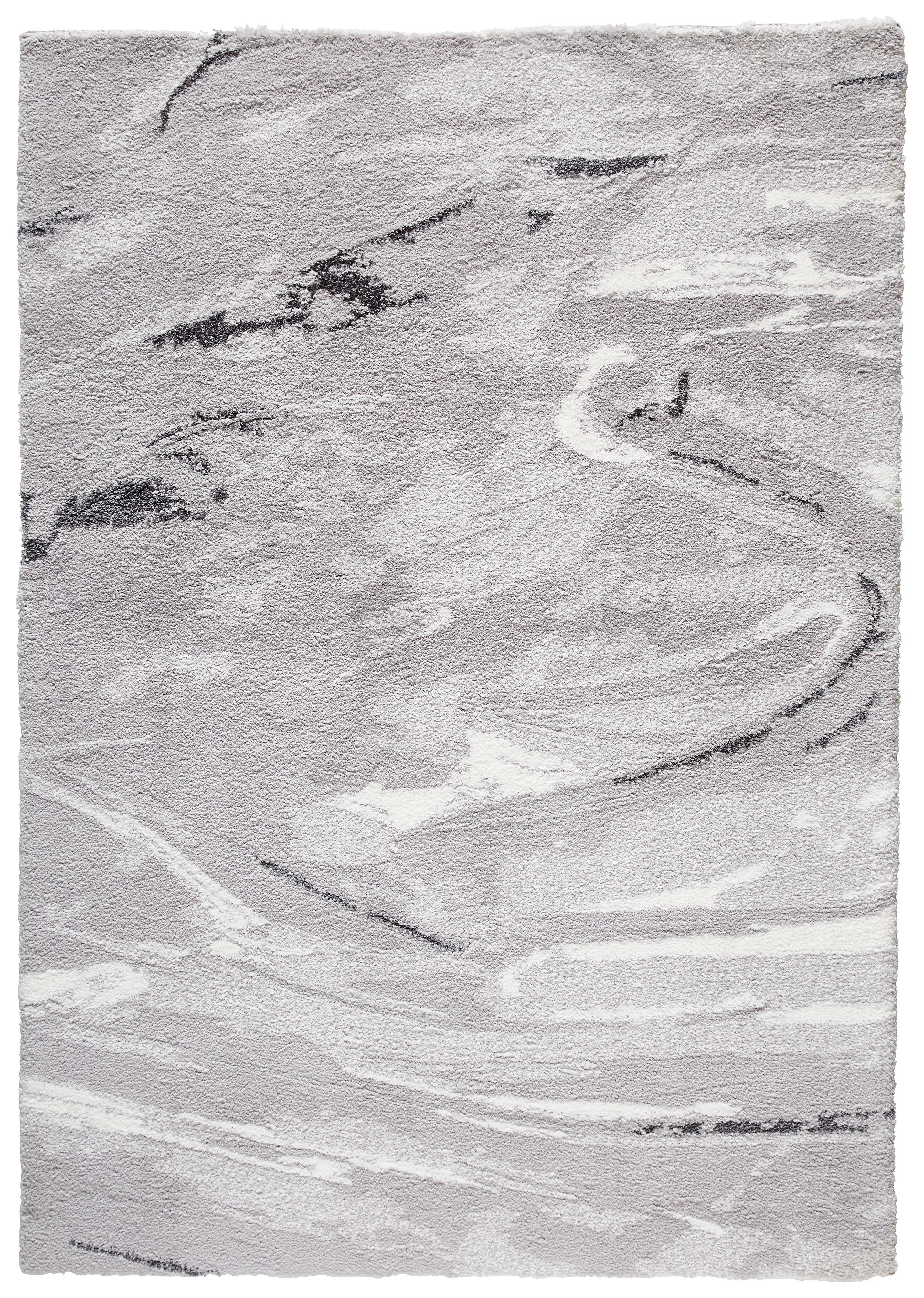 HOCHFLORTEPPICH  getuftet  Silberfarben - Silberfarben, Design, Textil (160cm) - NOVEL