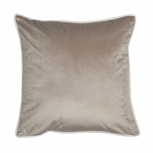 KISSENHÜLLE Creme, Schlammfarben 45/45 cm - Schlammfarben/Creme, KONVENTIONELL, Textil (45/45cm) - Ambiente