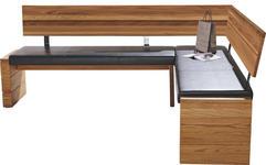 ECKBANK in Holz, Textil Eichefarben, Schwarz - Eichefarben/Schwarz, KONVENTIONELL, Holz/Textil (208/171cm) - Cantus