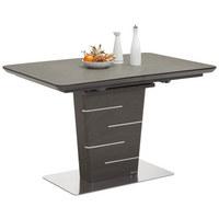 STOL ZA BLAGOVAONICU - tamno siva/boje oplemenjenog čelika, Design, drvni materijal/metal (120(160)/80/76cm) - Novel