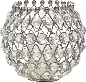 LJUSSTAKE - klar/silver, Trend, metall/glas (13/11cm) - Ambia Home