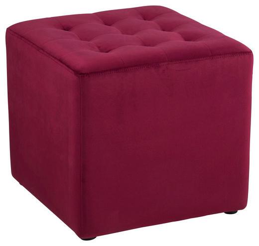HOCKER in Textil Bordeaux - Bordeaux/Schwarz, Trend, Textil (38/36/38cm) - Carryhome