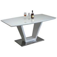 STOL ZA BLAGOVAONICU - bijela/boje oplemenjenog čelika, Design, staklo/drvni materijal (160/76/90cm) - Hom`in