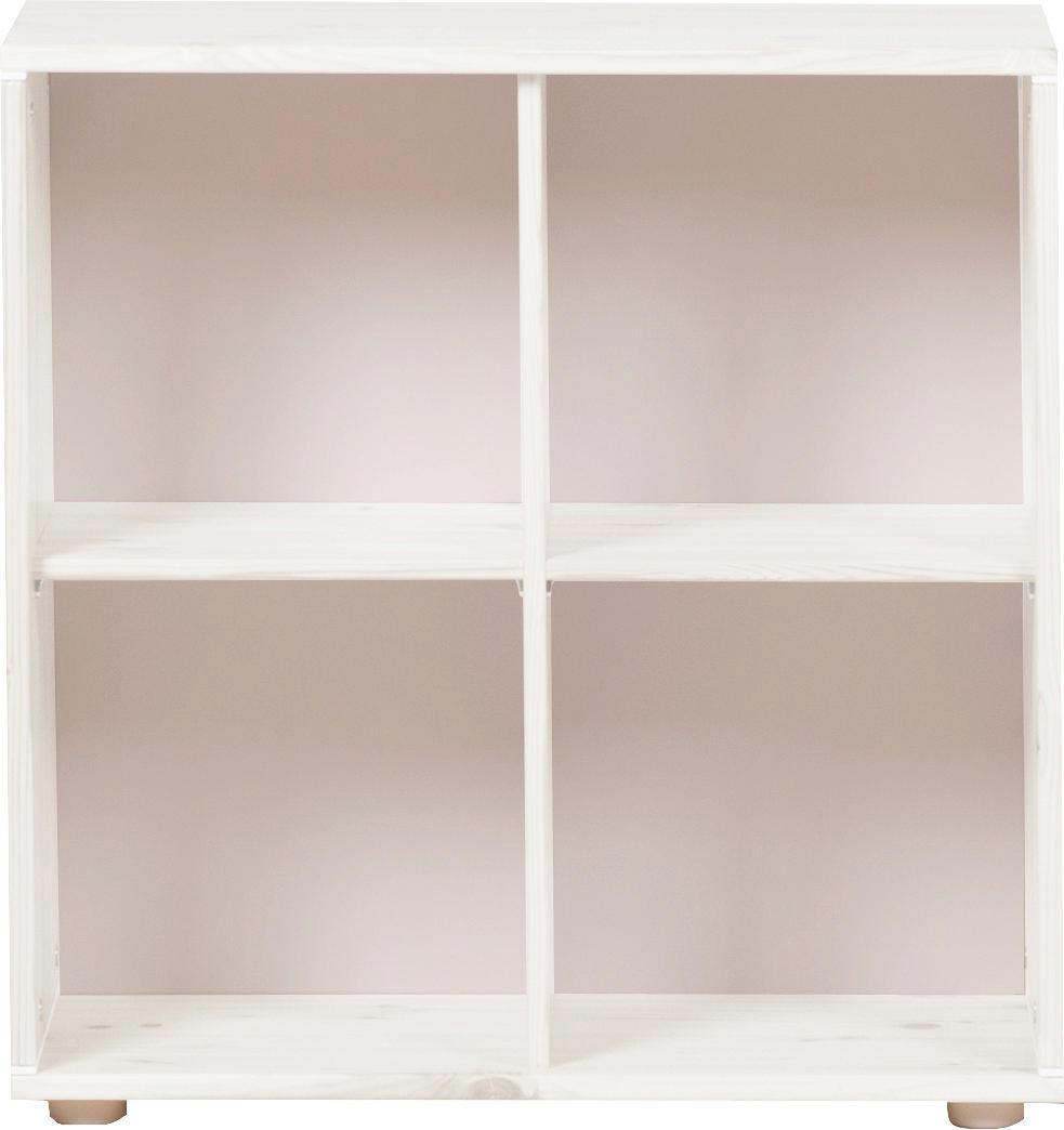 WANDREGAL Kiefer massiv Weiß - Weiß, Design, Holz (72/72/34,5cm) - FLEXA
