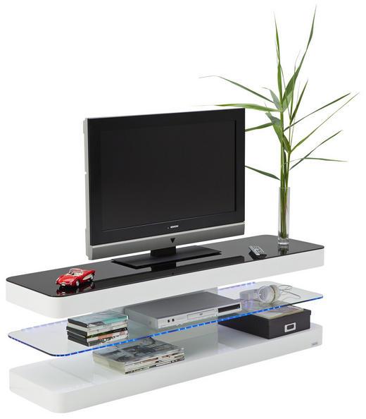 TV-ELEMENT - Schwarz/Weiß, Design, Glas/Holzwerkstoff (140/45/39cm) - Xora