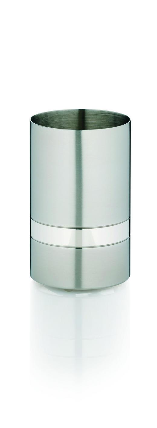 ZAHNPUTZBECHER - Silberfarben, Basics, Metall (6/10cm)