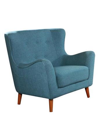 FOTELJ,  svetlo modra tekstil - svetlo modra, Design, tekstil (97/93/89cm) - Ti`me
