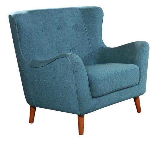 FOTELJA - svijetlo plava, Design, tekstil (97/93/89cm) - Ti`me