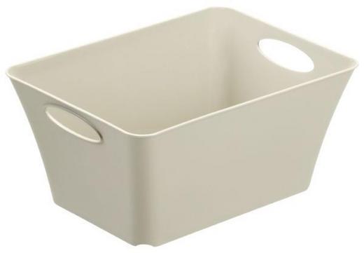 BOX Kunststoff Beige - Beige, Basics, Kunststoff (29,5/21,6/13,5cm)