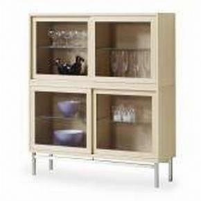 HYLLA - wengefärgad/rostfritt stål-färgad, Lifestyle, metall/glas (120/140/35cm) - Skovby