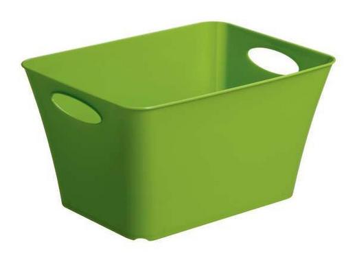 BOX Kunststoff Grün - Grün, Basics, Kunststoff (35,5/26/19,2cm)