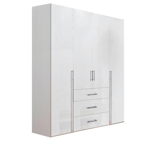 KLEIDERSCHRANK in Weiß  - Chromfarben/Weiß, Design, Holzwerkstoff/Metall (200/236/58cm) - Hom`in