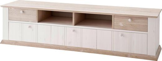 TV-ELEMENT Kiefer massiv Weiß - Weiß, LIFESTYLE, Holz (212/53/50cm) - Carryhome