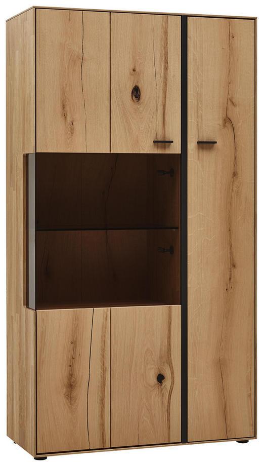 HIGHBOARD 92/167/41 cm - Eichefarben/Schwarz, MODERN, Glas/Holz (92/167/41cm) - Valnatura